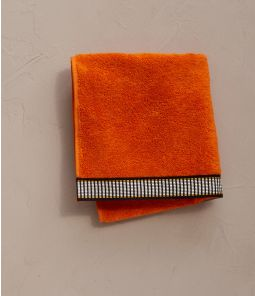 Serviette Singulier orange 50x100 cm