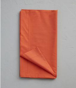 Taie de traversin percale orange étincelle