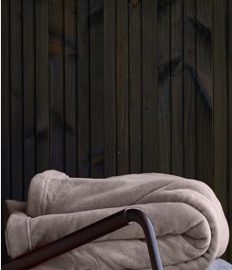 Couverture polaire taupe