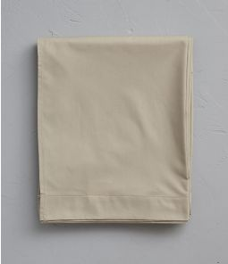 Drap percale marron terre battue