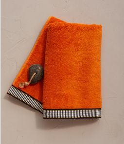 Drap de douche Singulier orange 70x140 cm