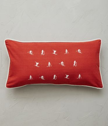 Housse coussin Mountain rouge 30x60 cm