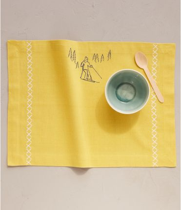 Set de table Nordic winter jaune