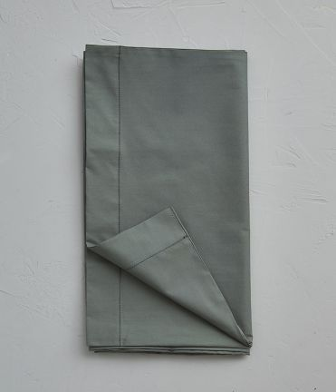 Taie de traversin percale vert alligator